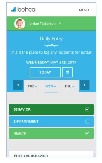 BEHCA Behavior Tracker App - 1