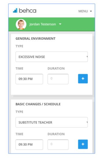 BEHCA Behavior Tracker App - 3