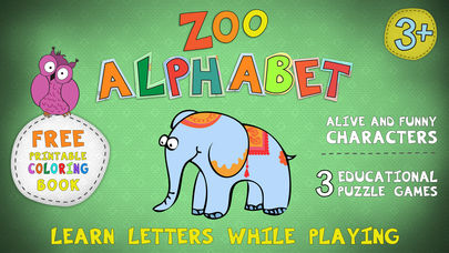 Zoo Alphabet for kids App - 1