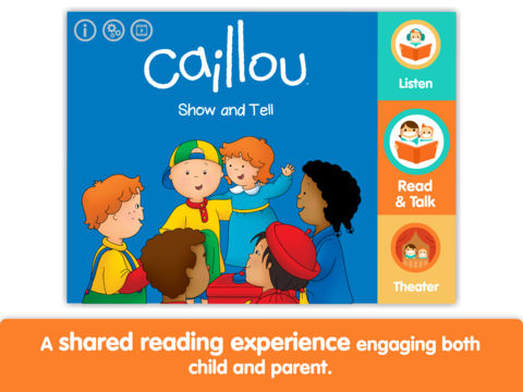 Caillou: Show and Tell - Lite - by i Read With App - 1