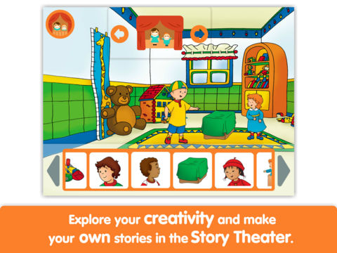 Caillou: Show and Tell - Lite - by i Read With App - 4