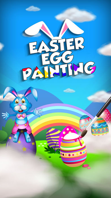 Easter Egg Painting – Bunny Coloring Game for Kids App - 1