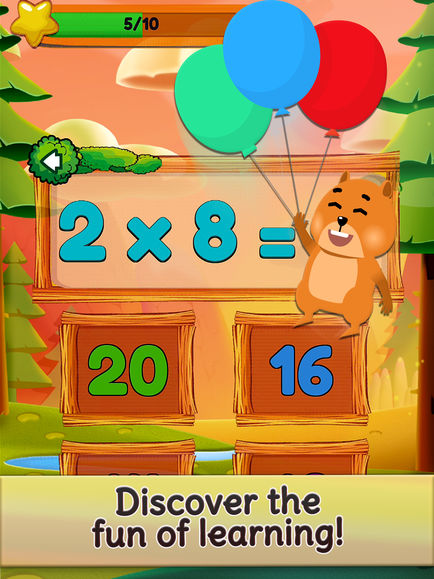 Times Tables and Friends, 1-12 App - 2