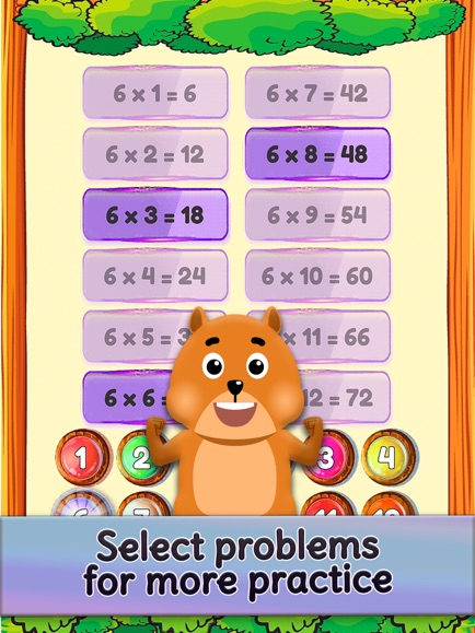 Times Tables and Friends, 1-12 App - 8