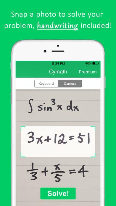 Cymath - Math Problem Solver App - 1