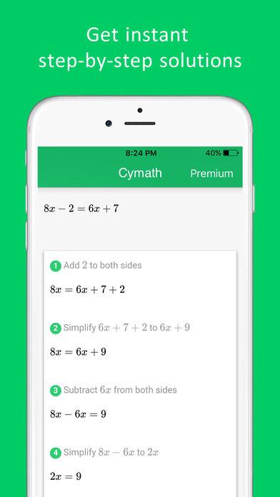 Cymath - Math Problem Solver App - 2