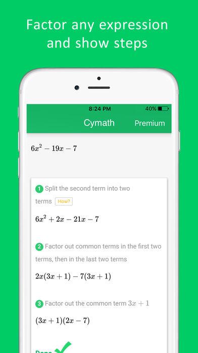 Cymath - Math Problem Solver App - 4