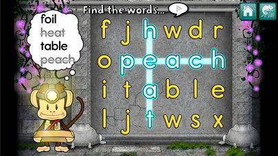 Monkey Word School Adventure App - 2