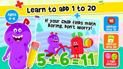 Addition and Subtraction Games App - 1