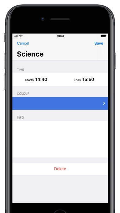 Class Timetable App - 3
