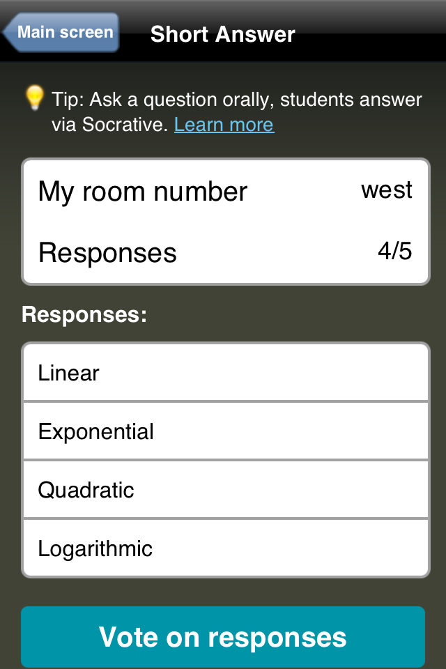 Teacher Clicker - Socrative App - 3