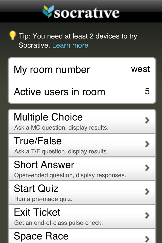 Teacher Clicker - Socrative App - 4