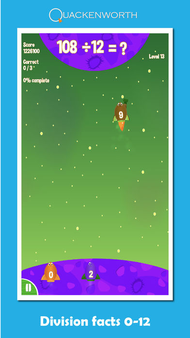Fruit Rockets Multiplication App - 2