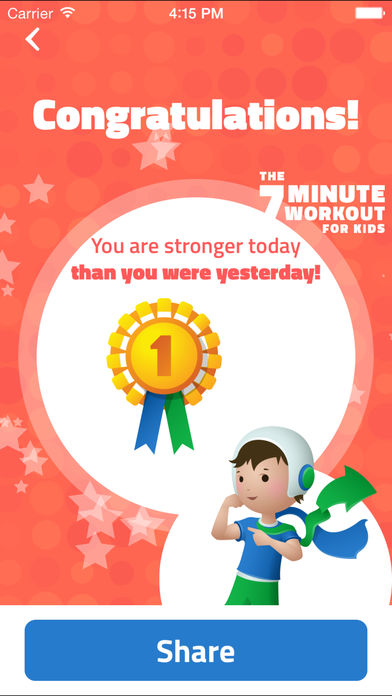 7-Minute Workout for Kids: Make Fitness Fun for Stronger, Healthier Kids Through Interval Training App - 4