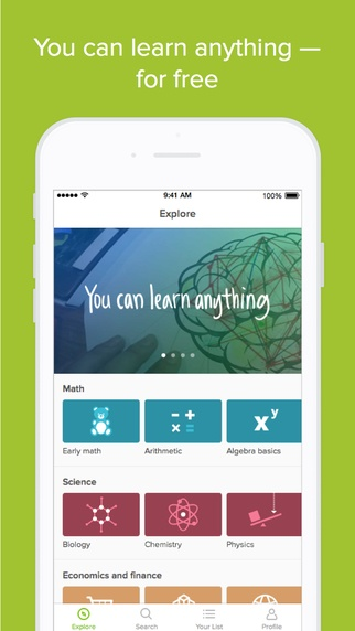 Download Khan Academy App | Educational App Store