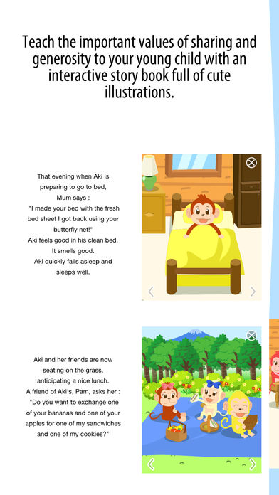 Aki the monkey teaches values - Sharing App - 1
