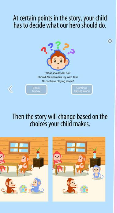 Aki the monkey teaches values - Sharing App - 2