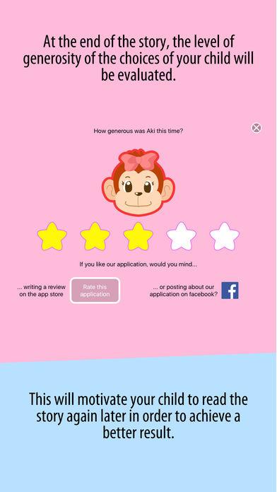 Aki the monkey teaches values - Sharing App - 5