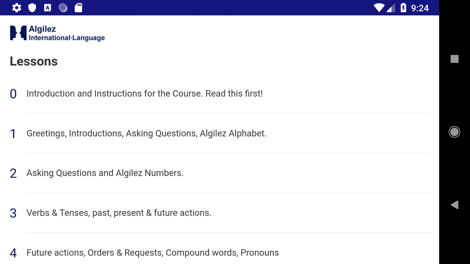 Algilez Beginners App - 1