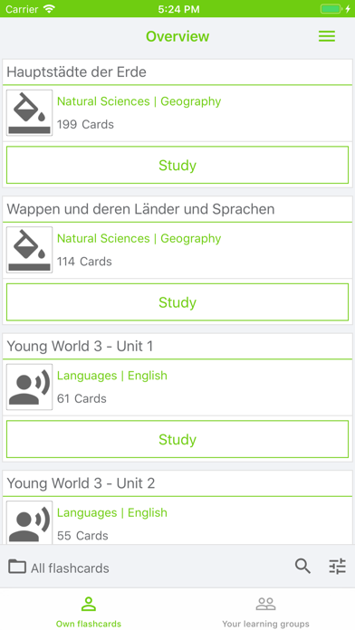 MemoCard learn with flashcards
