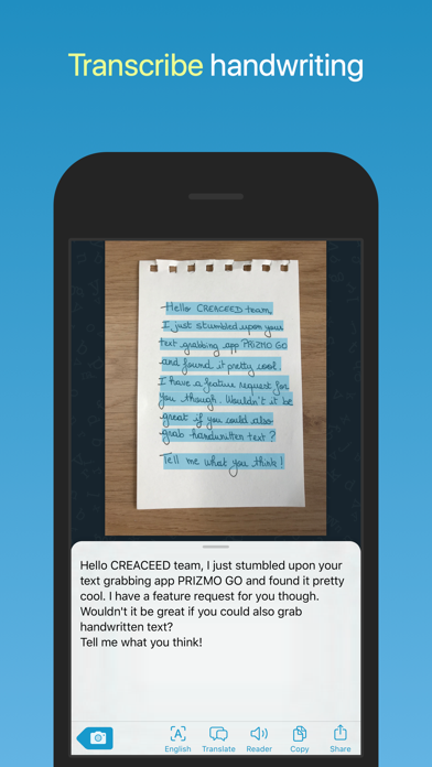 Prizmo Go › Text Grabber