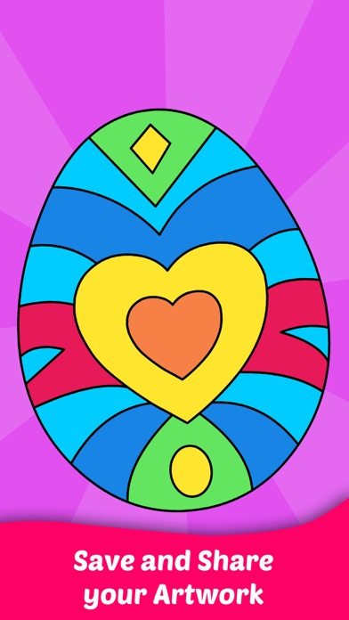 Easter Egg Coloring For Kids