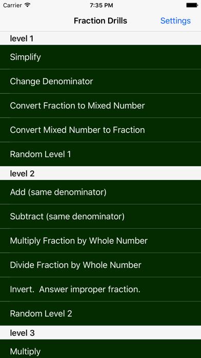 Fraction Drills Free