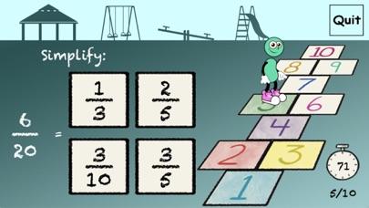 Hopscotch - Simplify Fractions