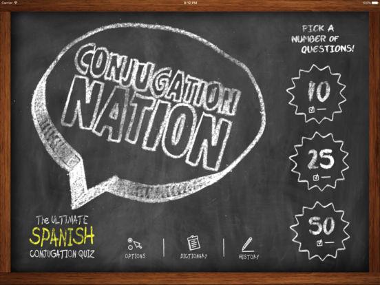 Conjugation Nation Spanish App - 1