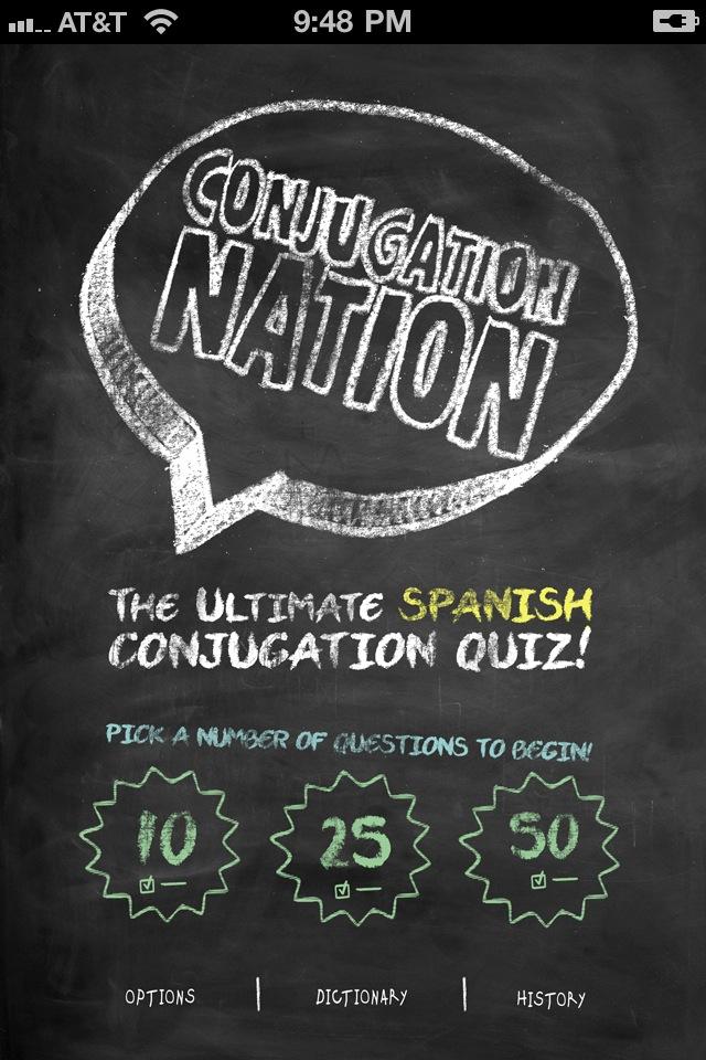 Conjugation Nation Spanish App - 2