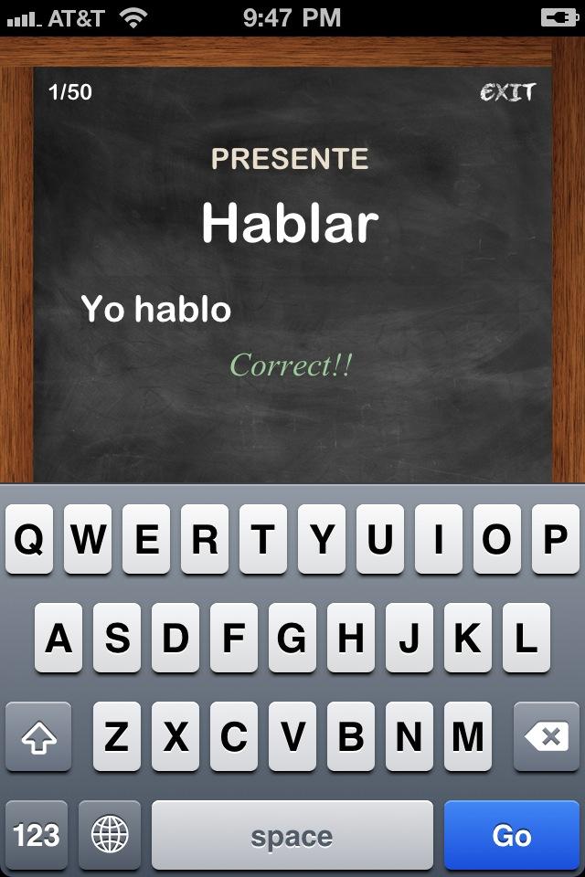 Conjugation Nation Spanish App - 4