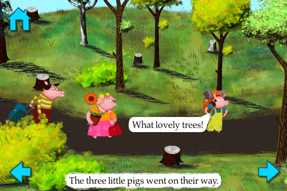 The Three Little Pigs-Nosy Crow animated storybook App - 1