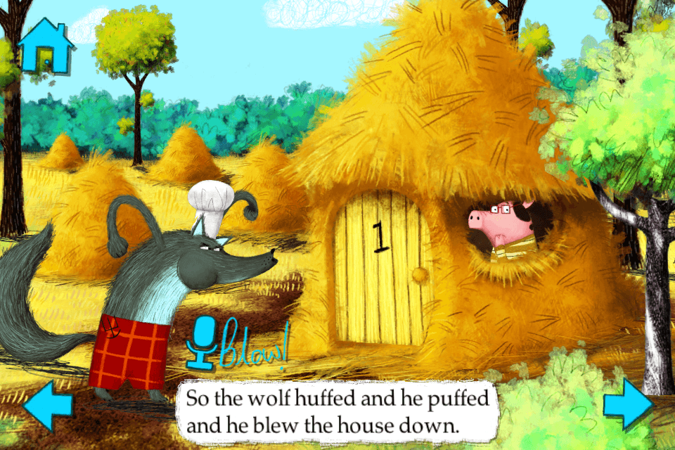 The Three Little Pigs-Nosy Crow animated storybook App - 3