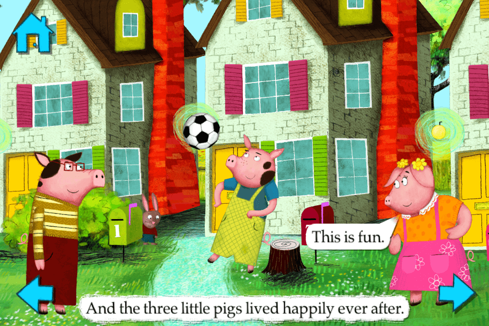 The Three Little Pigs-Nosy Crow animated storybook App - 4