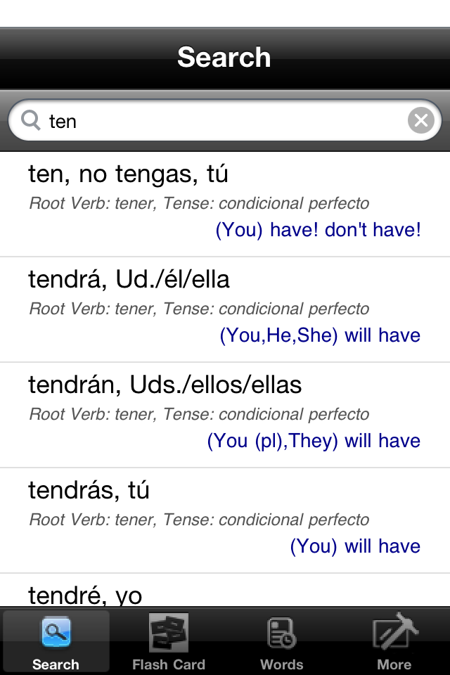 ConjuVerb - Spanish Verb Conjugation Helper-1
