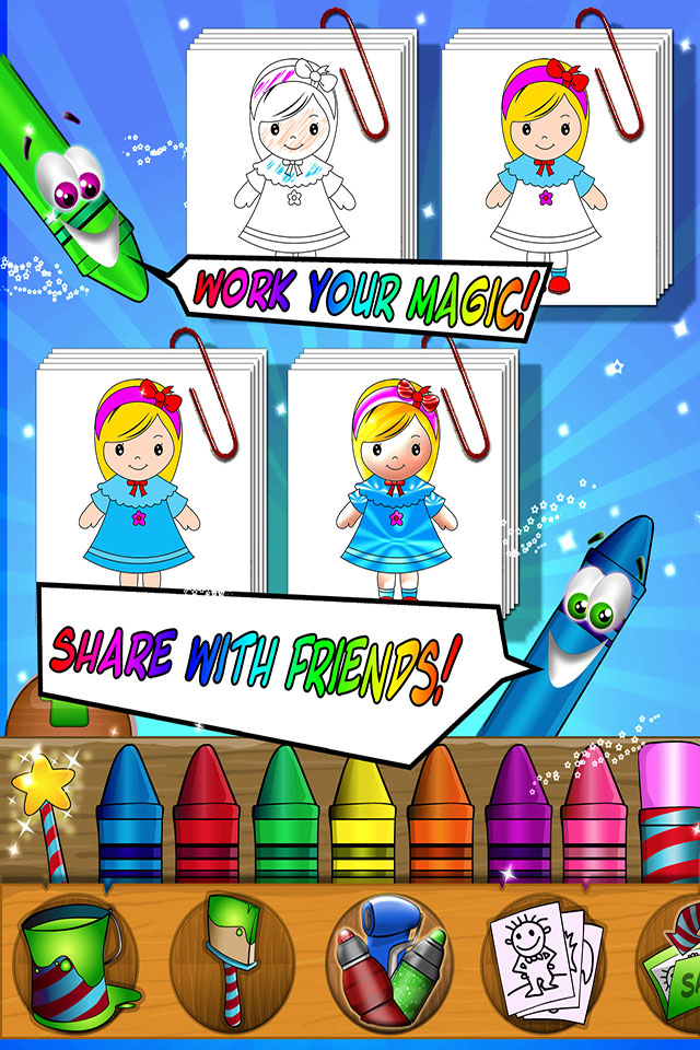 Paint Sparkles Draw - my first colors HD ! App - 3