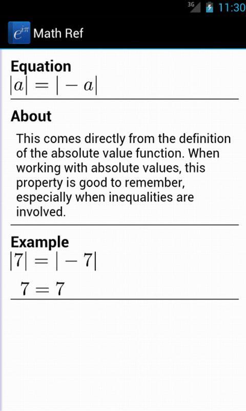 Math Ref App - 5
