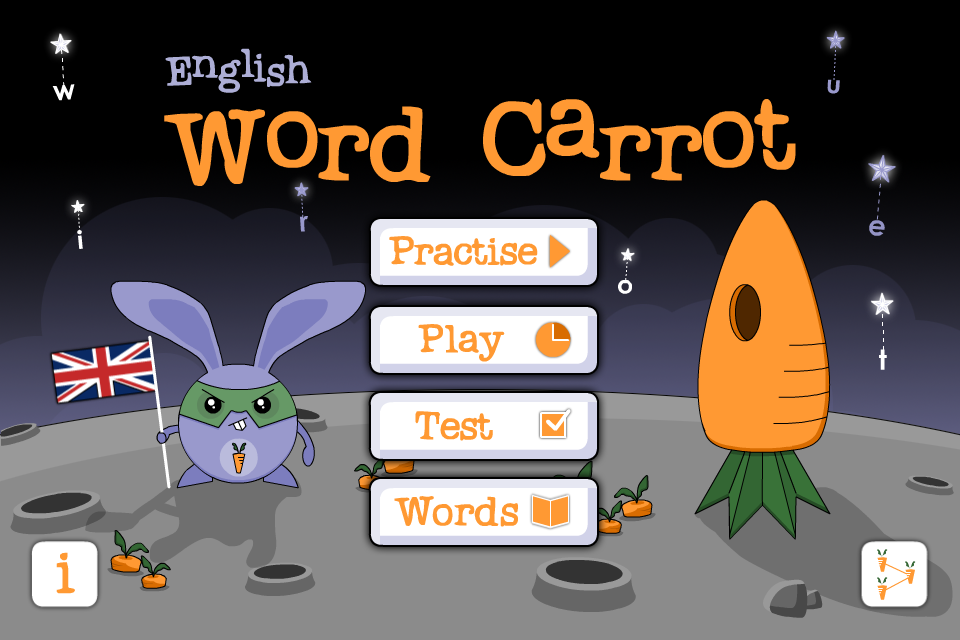 Learn British English words - play Word Carrot language game for free-1