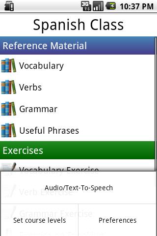 Spanish Class App - 2