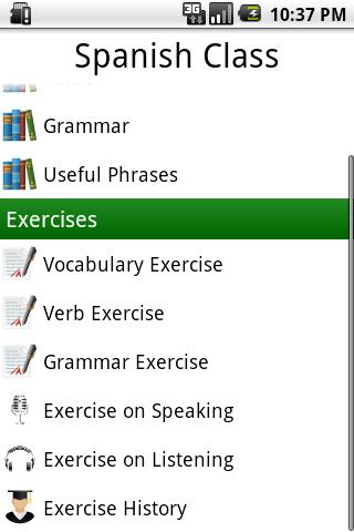 Spanish Class App - 3