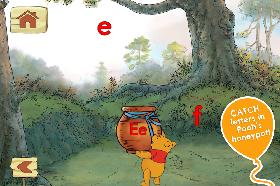 Letters with Pooh App - 5