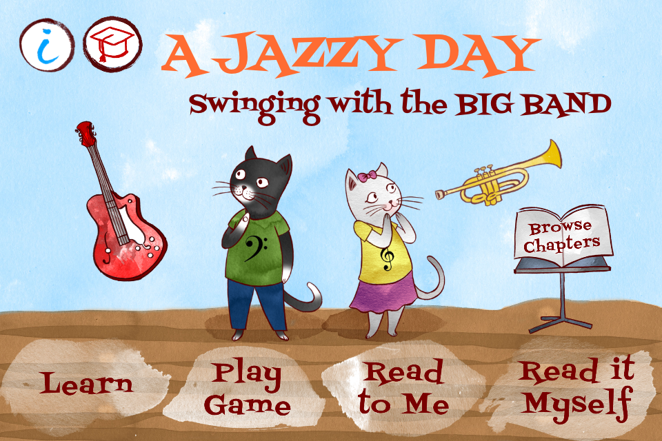 A Jazzy Day - Music Education Book for Kids App - 1