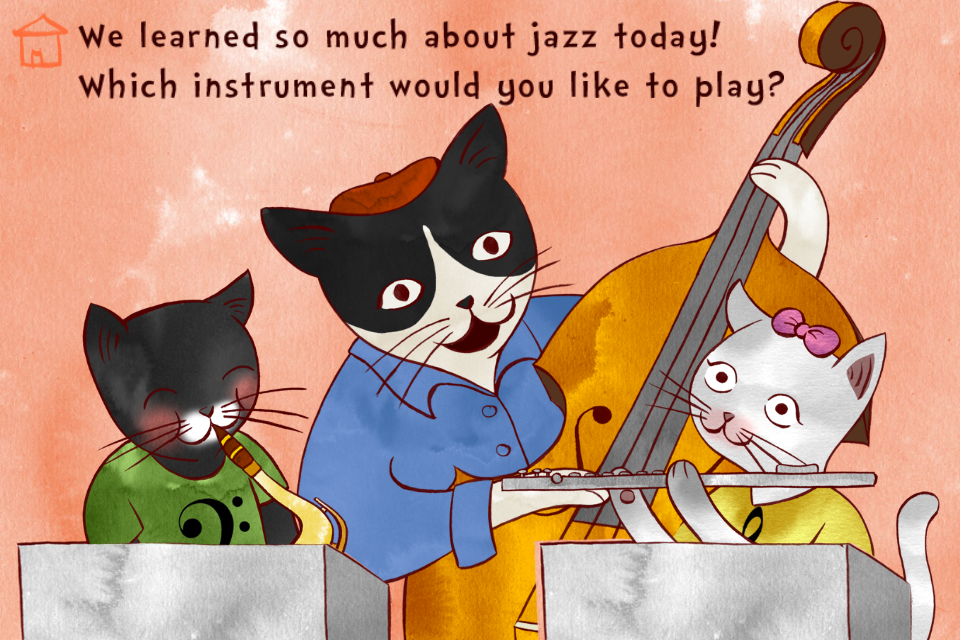 A Jazzy Day - Music Education Book for Kids App - 5