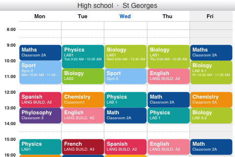 My Timetable App - 1