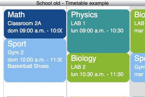 My Timetable App - 2