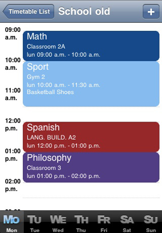 My Timetable App - 3