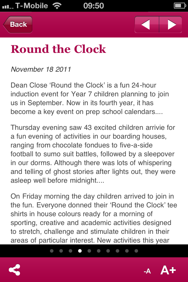 Dean Close Parent App App - 5