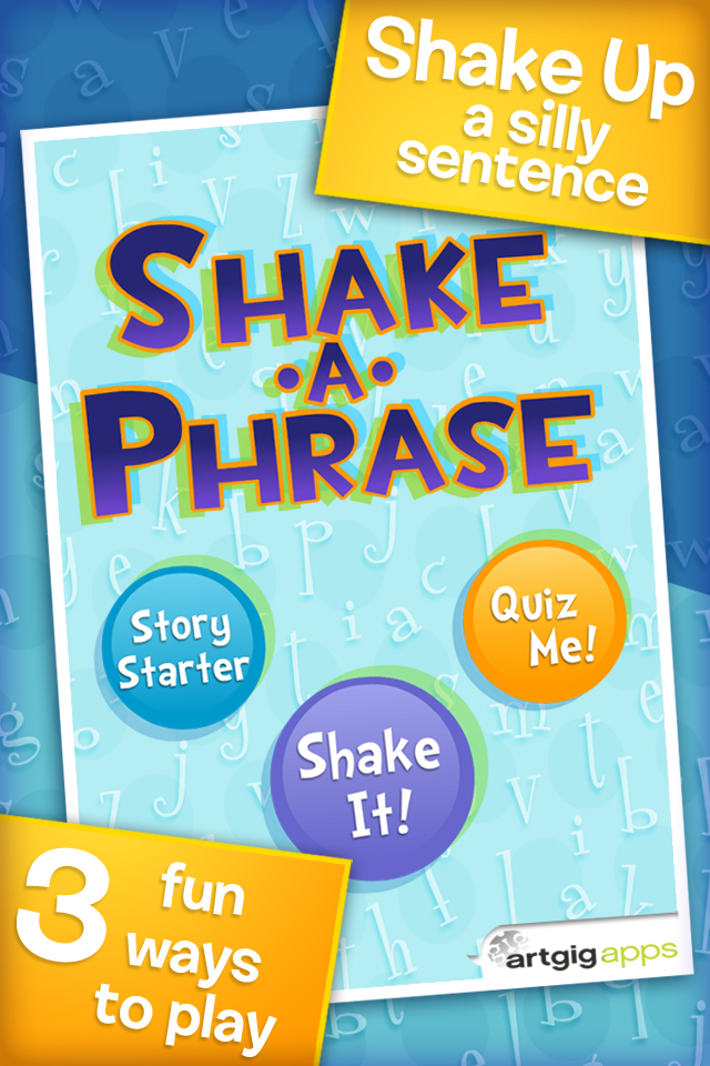 Shake-a-Phrase: Fun With Words and Sentences App - 1