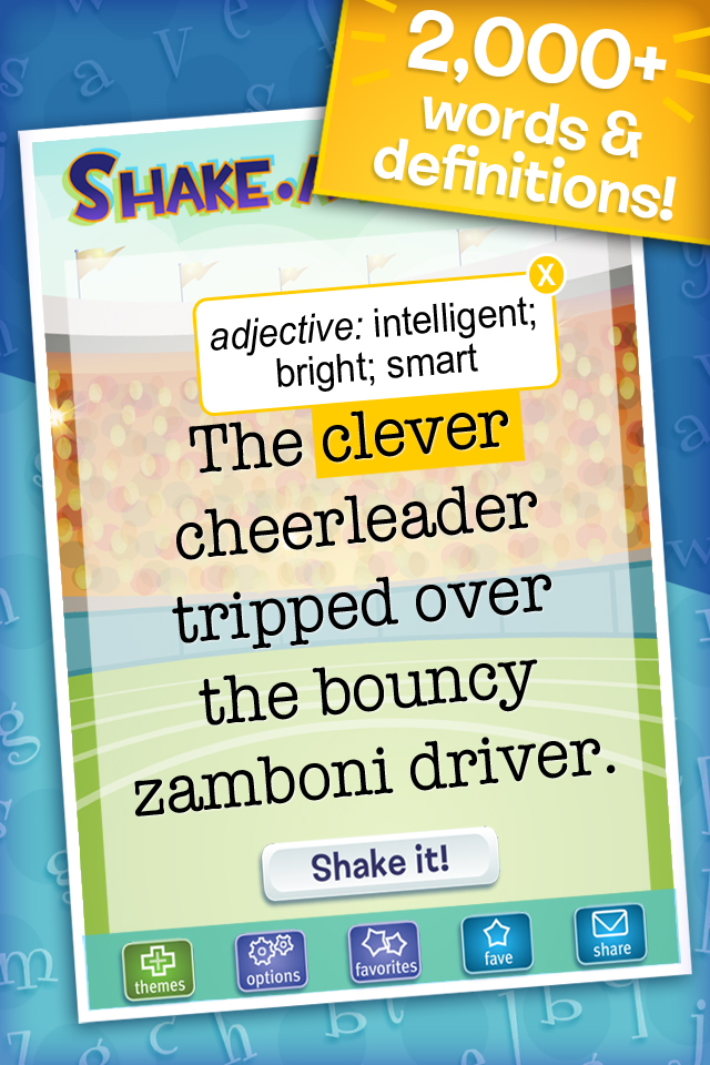 Shake-a-Phrase: Fun With Words and Sentences App - 2