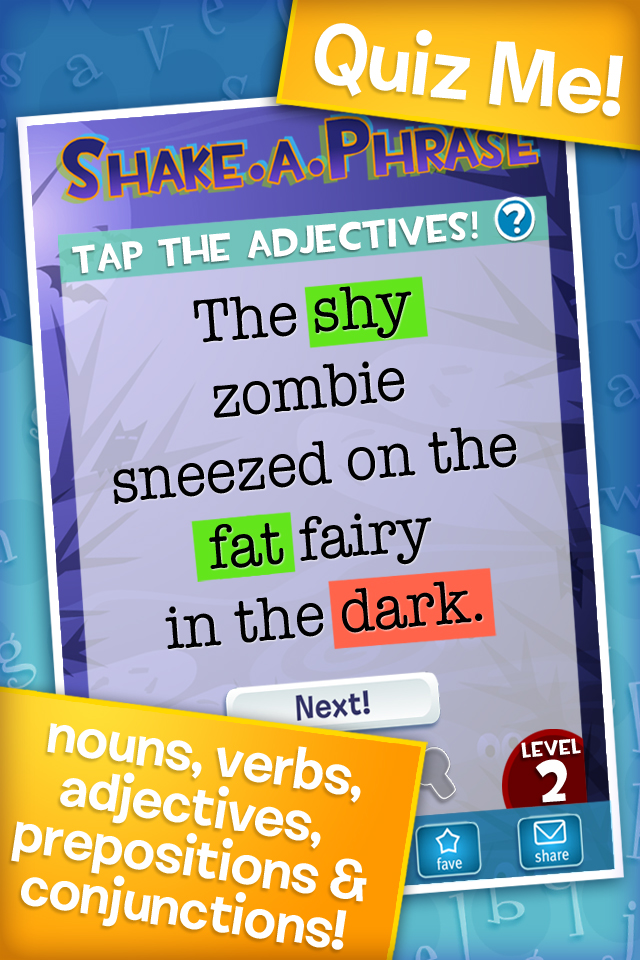 Shake-a-Phrase: Fun With Words and Sentences App - 3